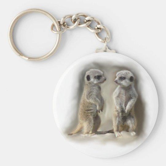 Meerkat baby twins keychain