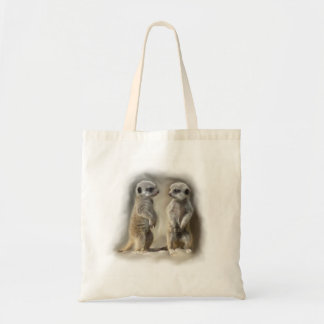 Meerkat baby twins tote bag