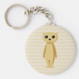 Meerkat. Basic Round Button Keychain