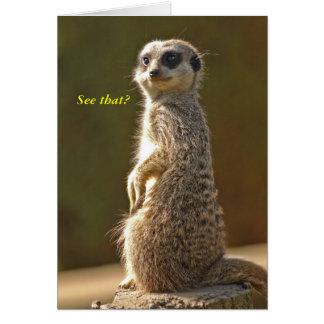 Meerkat Birthday Card See that? c