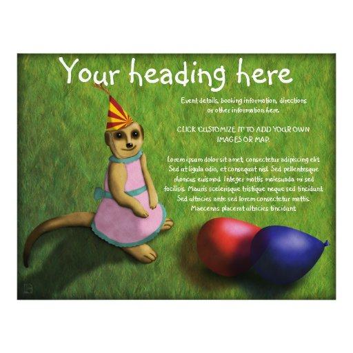 Meerkat Birthday, flyer