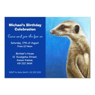 Meerkat Birthday Party Invitation