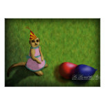Meerkat Birthday, print
