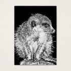 Meerkat, Black and White Business Card