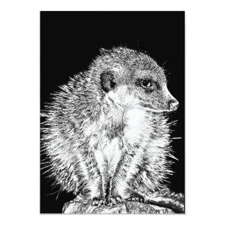 Meerkat, Black and White Card