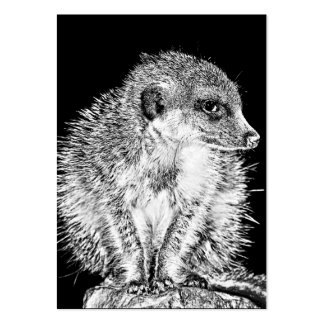 Meerkat, Black and White Large Business Card