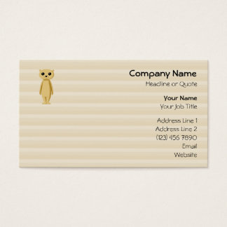Meerkat. Business Card
