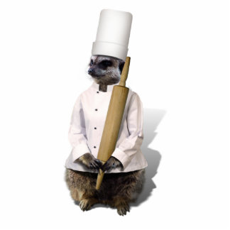 Meerkat Chef with Rolling Pin Cutout