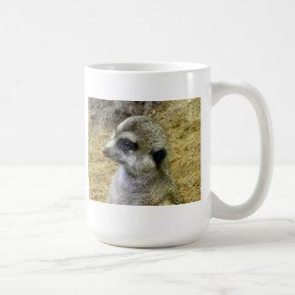 Meerkat Classic White Coffee Mug