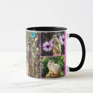 Meerkat_Collage, _Ringer_Coffee_Mug Taza