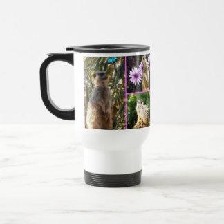 Meerkat_Collage, _White_Travel_Coffee_Mug Taza De Viaje