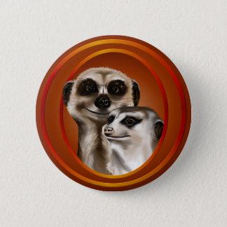 Meerkat Couple-Buttons Button