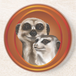 Meerkat Couple- Coaster