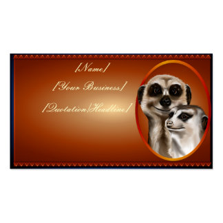 Meerkat Couple  profilecard_business_horizontal... Double-Sided Standard Business Cards (Pack Of 100)