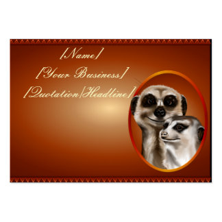 Meerkat Couple profilecard_chubby_horizontal., ... Large Business Cards (Pack Of 100)