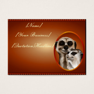 Meerkat Couple profilecard_chubby_horizontal., ... Business Card