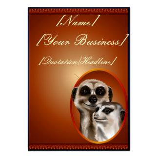 Meerkat Couple profilecard_chubby_vertical, [Na... Large Business Cards (Pack Of 100)