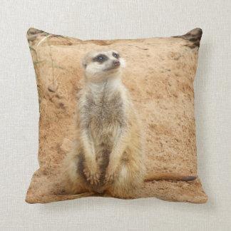 Meerkat Cushion Throw Pillow