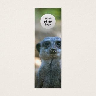 Meerkat Custom Bookmark Mini Business Card