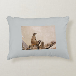 Meerkat Custom Polyester Accent Cushion