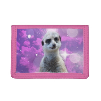 Meerkat_Disco_Ball_Ladies_Pink_Trifold Wallet