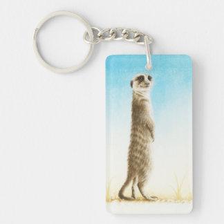 Meerkat Double-Sided Rectangular Acrylic Keychain