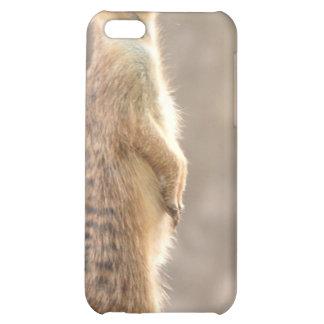 Meerkat en el caso del iPhone 4 de la atención