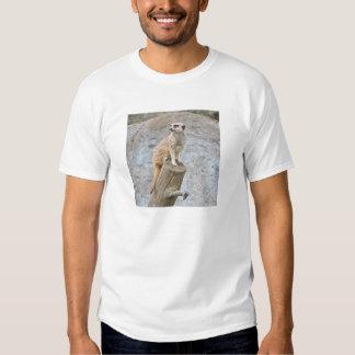 Meerkat en un registro remera