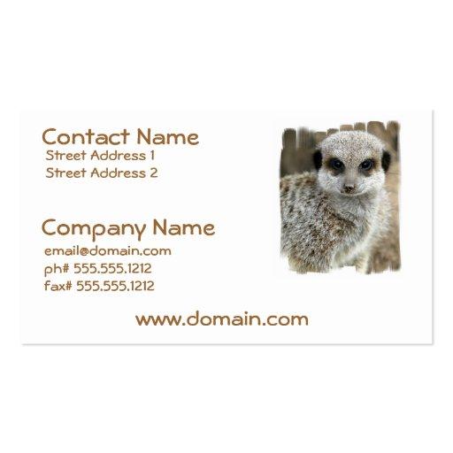 Meerkat Face Business Card