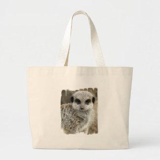 Meerkat Face Canvas Bag