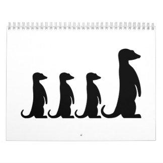 Meerkat family calendar
