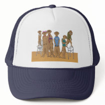 Meerkat Family Portrait Hat