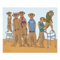 Meerkat Family Portrait Photo Print
