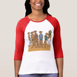 Meerkat Family Portrait T Shirt