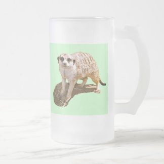 Meerkat Gift Frosted Glass Beer Mug