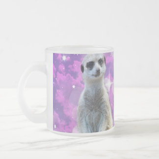 Meerkat Glitter Ball,_Frosted_Glass_Beer_Mug. Frosted Glass Coffee Mug