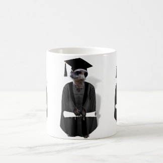 Meerkat Graduate W/Grey Gown & Black Sash Coffee Mug