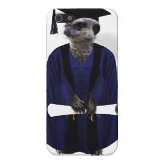 Meerkat Graduate (with Blue Gown w/Black Sash) Cover For iPhone SE/5/5s