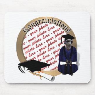 Meerkat Graduate (with Blue Gown w/Black Sash) Mouse Pad