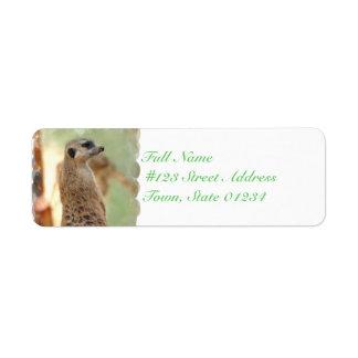 Meerkat Guard Mailing Labels