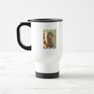 Meerkat Guard Plastic Travel Mug