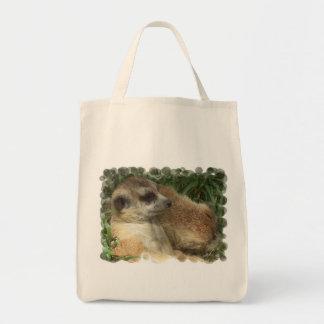 Meerkat Habitat Grocery Tote Bag
