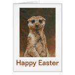 Meerkat Happy Easter Greeting Card