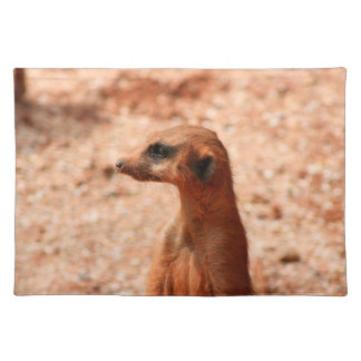 meerkat head close up zoo animal image placemat