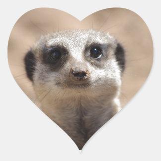 Meerkat Heart Sticker