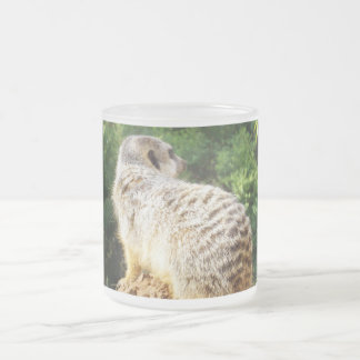 Meerkat_High_Views,_Frosted_Glass_Mug. Frosted Glass Coffee Mug