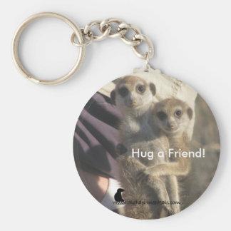 Meerkat Hug a Friend - Keychain
