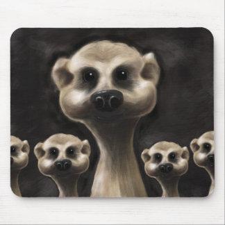 Meerkat illustration mouse mat