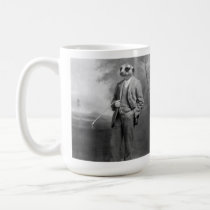 Meerkat in a Business Suit with Golf Club Mug