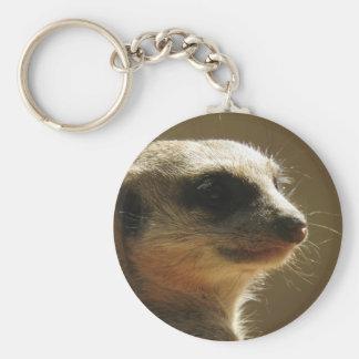 Meerkat Key Ring Basic Round Button Keychain